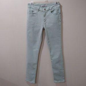 Zara basic Z1975 light mint green jeans